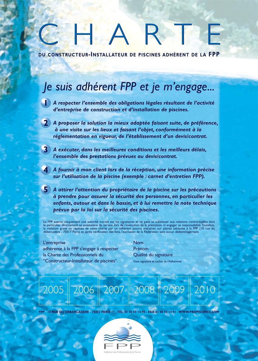 Piscines es adh re la charte des constructeurs de for Constructeur piscine alsace